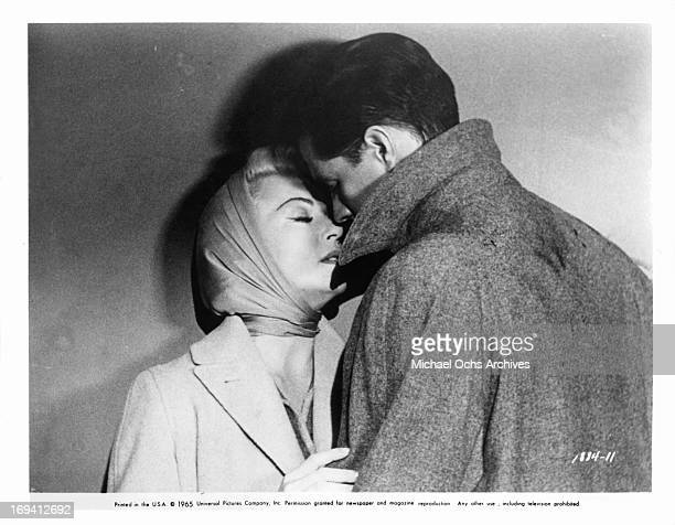 Lana Turner getting close to John Gavin in a scene from the film 'Imitation Of Life' 1959