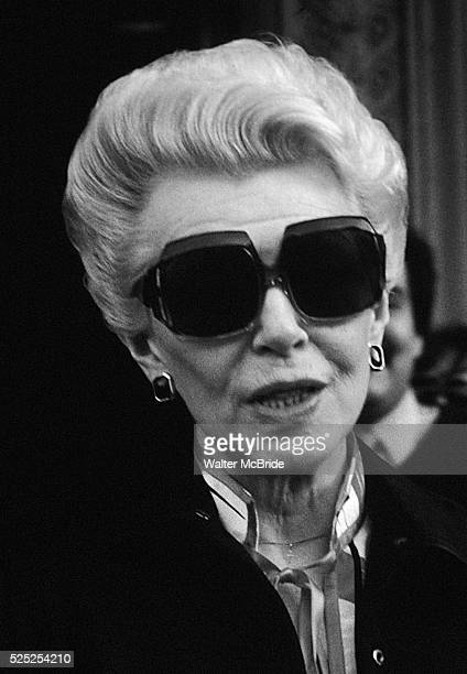 Lana Turner pictured leaving her hotel in New York City in 1985