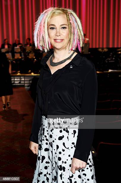 Lana Wachowski attends the Marc Jacobs Spring 2016 fashion show during New York Fashion Week at Ziegfeld Theater on September 17 2015 in New York City