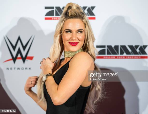 Lana wife of Rusev arrives prior to the WWE Live Duesseldorf event at ISS Dome on February 22 2017 in Duesseldorf Germany