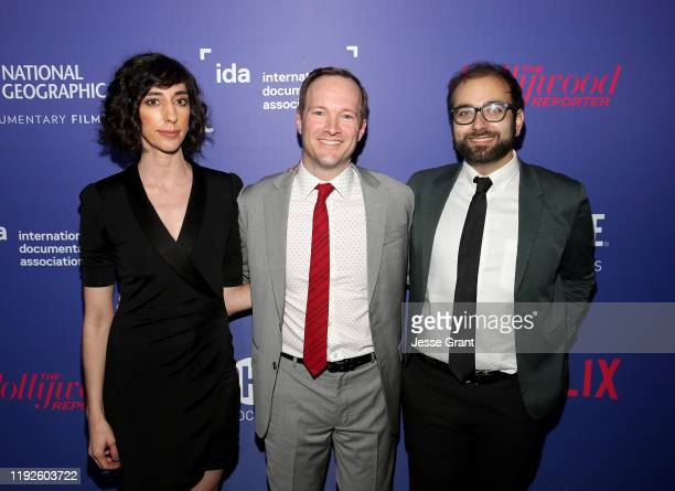 Lana Wilson Jeff Seelbach and David Osit attend the 2019 IDA Documentary Awards at Paramount Pictures on December 07 2019 in Los Angeles California