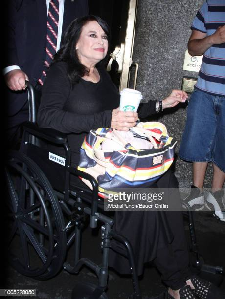 Lana Wood is seen on July 25, 2018 in New York City.