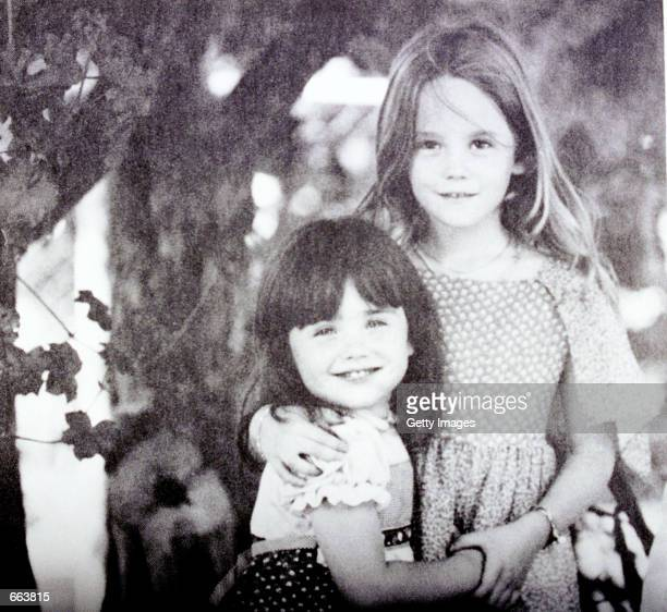 Lana Wood poses with her sister, the late actress Natalie Wood, right, when they were children.
