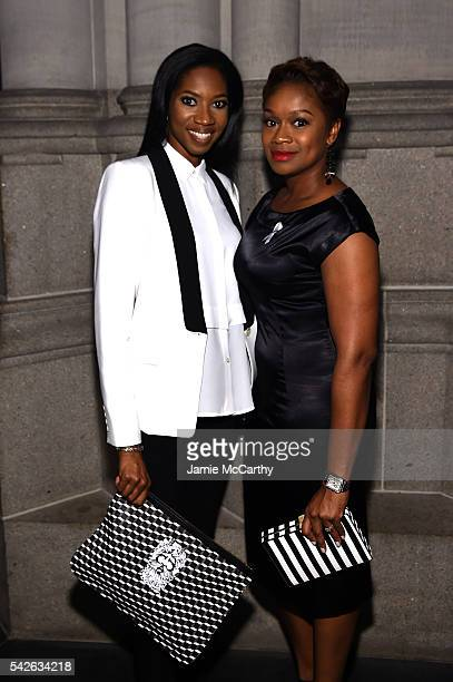Lanaya Irvin and Janessa Cox attend 2016 Logo's Trailblazer Honors at Cathedral of St John the Divine on June 23 2016 in New York City