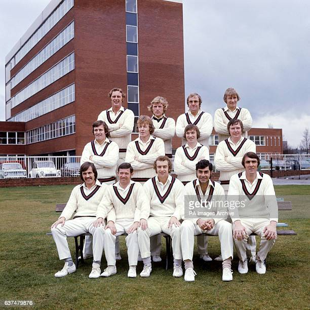 Lancashire County Cricket Club team group Jack Simmons Barry Wood Andrew Kennedy Frank Hayes David Hughes Peter Lever John Lyon John Sullivan Peter...