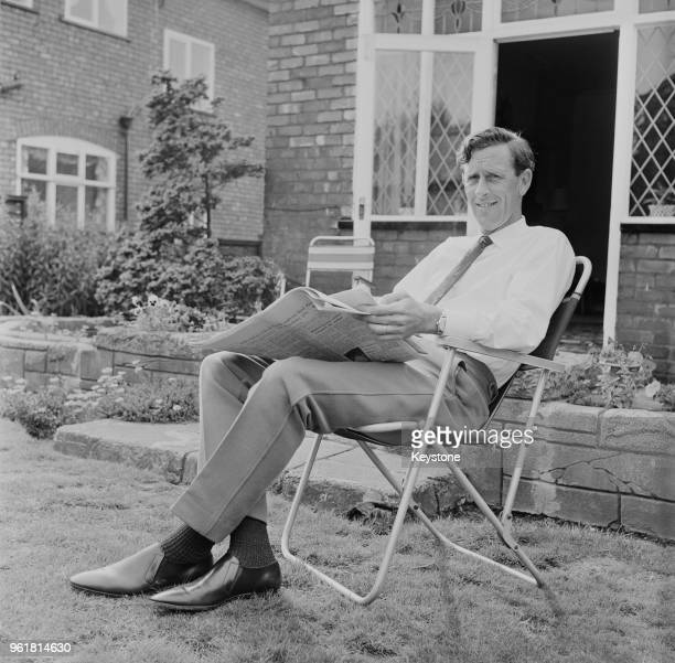 Lancashire cricketer Brian Statham relaxes at his home in Heaton Moore Manchester after retiring from the game 14th August 1968 His last match was...
