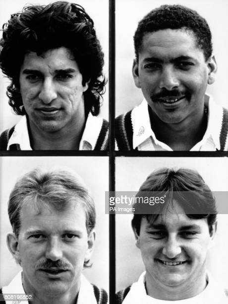 Lancashire ounty cricket team members Wasim Akram and Philip Defreitas Paul Allott and Ian Austin