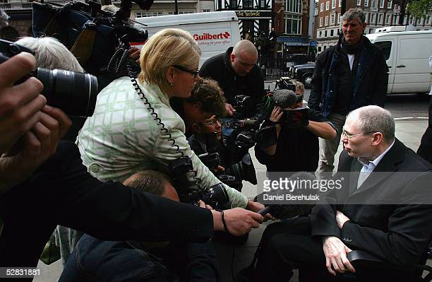 Lancashireman Leslie Burke who has a degenerative brain condition is interviewed by the press outside The Court of Appeal May 16 2005 in London...
