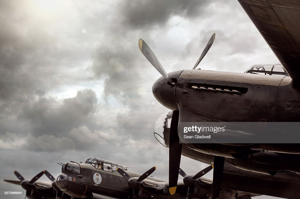 Lancaster Bomber aircraft : Stock Photo