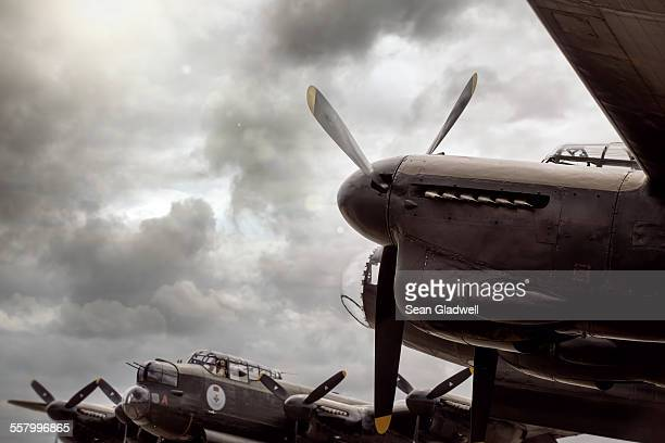 lancaster bomber aircraft - world war ii stock pictures, royalty-free photos & images