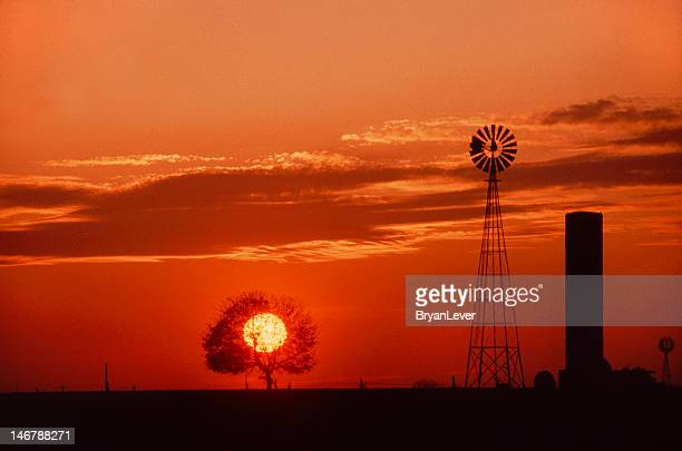 lancaster county sunset, usa - lancaster county pennsylvania stock pictures, royalty-free photos & images