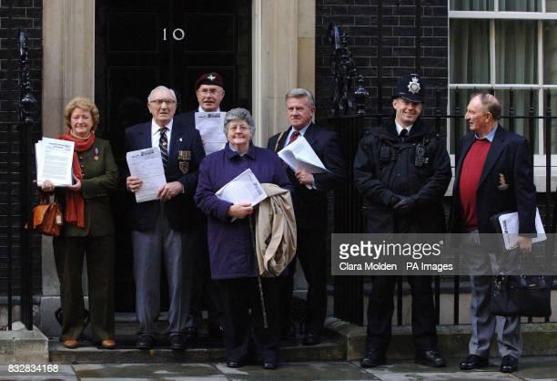 Lancastria disaster relatives and survivors ; Fiona Symon, daughter of victim Andrew Richardson; survivor Reg Brown; David Parton, son of victim...