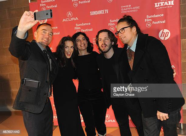 Lance Acord Winona Ryder Sarah Flack Edgar Wright and Cary Fukunaga attend the Awards Night Ceremony during the 2015 Sundance Film Festival at the...