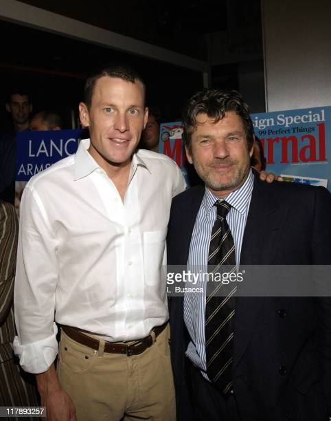 """Lance Armstrong and Jann Wenner during Men's Journal Celebrates Lance Armstrong's New Book """"Every Second Counts"""" at The Whiskey, W Hotel in New York..."""