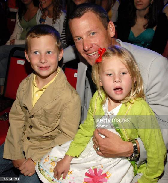 Lance Armstrong and kids during Nickelodeon's 19th Annual Kids' Choice Awards Backstage and Audience at Pauley Pavilion in Westwood California United...