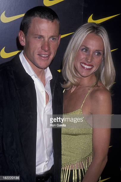 Lance Armstrong and Kristin Richard attend the premiere of Lantana on November 6 2001 at the Pacific Design Theater in Hollywood California
