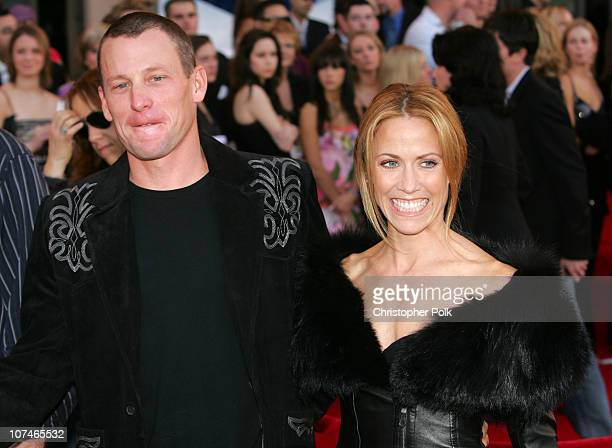 Lance Armstrong and Sheryl Crow during 33rd Annual American Music Awards - Arrivals at Shrine Auditorium in Los Angeles, California, United States.