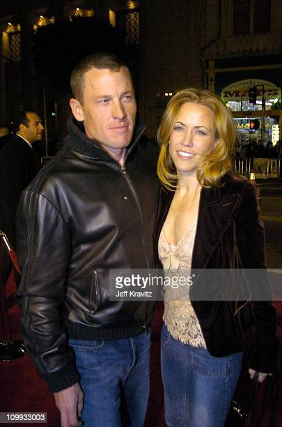 Lance Armstrong and Sheryl Crow during Along Came Polly Los Angeles Premiere at Mann's Chinese Theater in Hollywood California United States