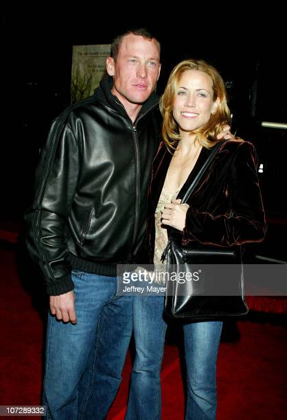 Lance Armstrong and Sheryl Crow during Along Came Polly Premiere at Chinese Theatre in Hollywood California United States