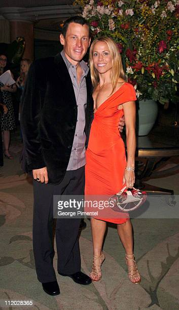 Lance Armstrong and Sheryl Crow during Clive Davis' 2005 Pre-GRAMMY Awards Party - Cocktail Reception at Beverly Hills Hotel in Beverly Hills,...