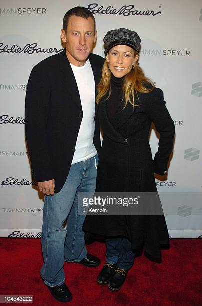 Lance Armstrong and Sheryl Crow during Eddie Bauer Presents the 2005 Ice Rink Opening at Event Location in New York City New York United States