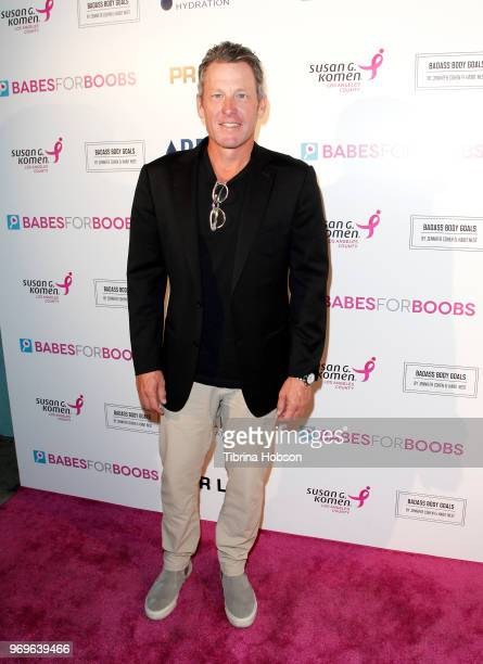 Lance Armstrong attend the Babes for Boobs live auction benefiting Susan G Komen LA at El Rey Theatre on June 7 2018 in Los Angeles California