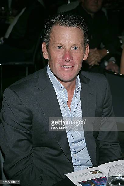 Lance Armstrong attends the Mack Jack McConaughey charity gala at ACL Live on April 16 2015 in Austin Texas