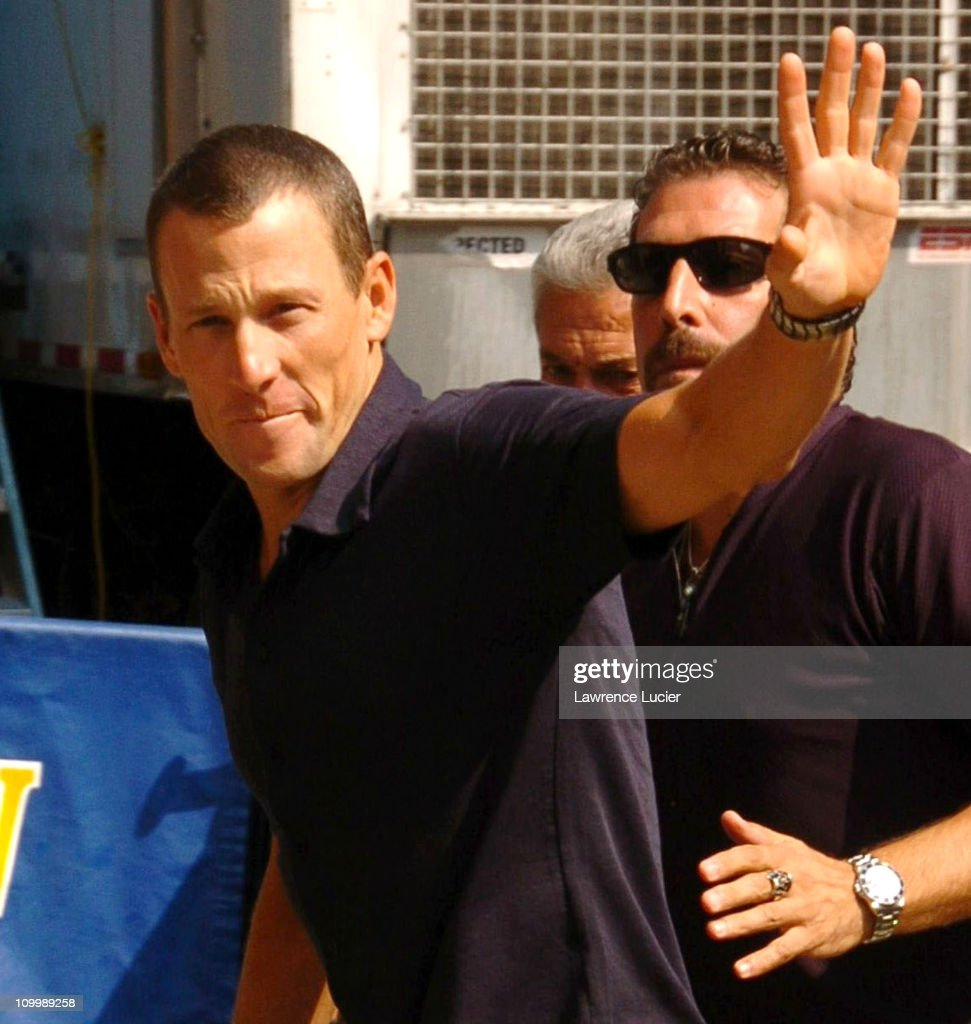"Lance Armstrong Appears Outside ""The Late Show with David Letterman"" - August"