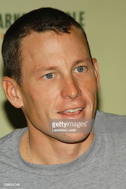 Lance Armstrong during Lance Armstrong Signs His New Book Every Second Counts at Barnes & Noble in New York City, New York, United States.