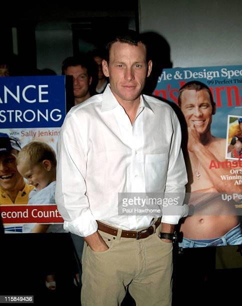 Lance Armstrong during Men's Journal and Lance Armstrong Celebrate the Publication of Armstrong's New Book 'Every Second Counts' New York at The...