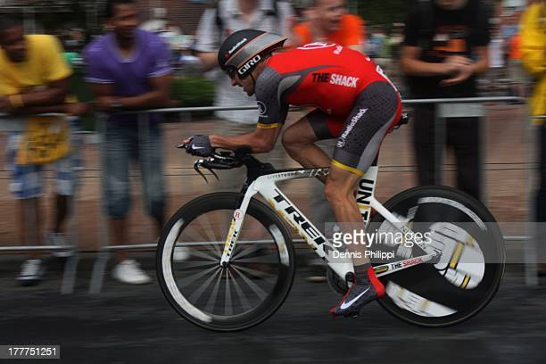 CONTENT] Lance Armstrong during the prologue of the Tour de France 2010 Rottedam 3 July 2010