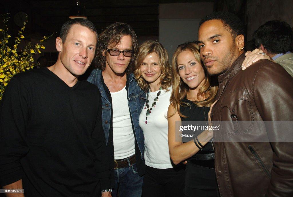 Lance Armstrong, Kevin Bacon, Kyra Sedgwick, Sheryl Crow and Lenny Kravitz