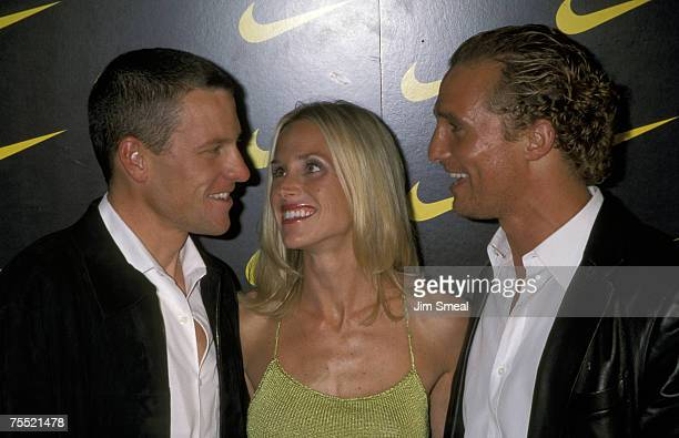 Lance Armstrong Wife Kristin Richard And Matthew McConaughey at the Private House in Hollywood California