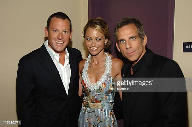 Lance Armstrong, winner Best Male Athlete, Christine Taylor and Ben Stiller **Exclusive**