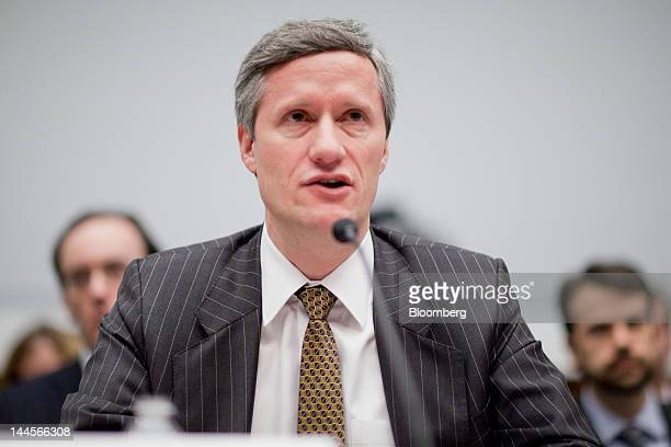 Lance Auer deputy assistant secretary for financial institutions with the US Treasury speaks during a House Financial Services subcommittee hearing...
