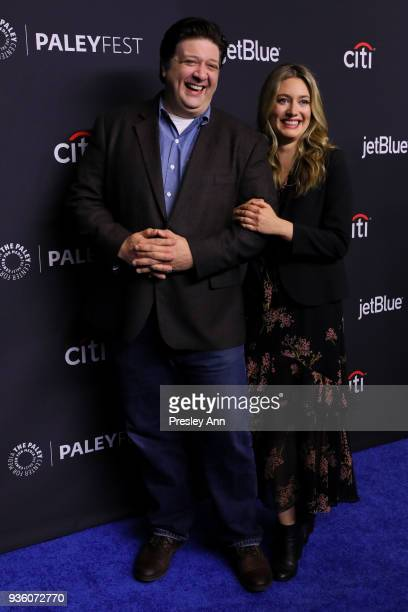Lance Barber and Zoe Perry attend PaleyFest Los Angeles 2018 The Big Bang Theory and Young Sheldon at Dolby Theatre on March 21 2018 in Hollywood...