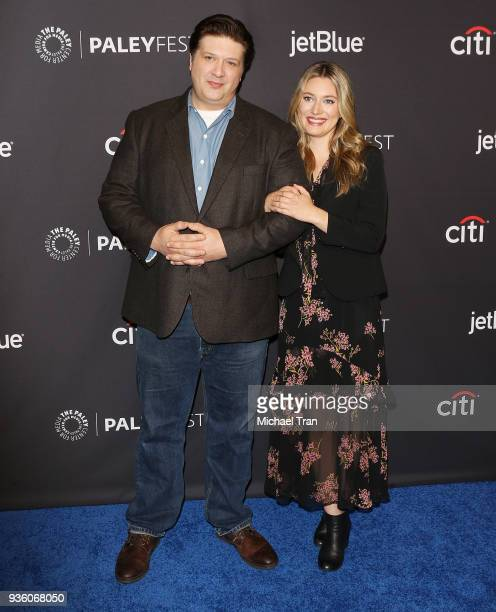 Lance Barber and Zoe Perry attend the 2018 PaleyFest Los Angeles CBS's 'The Big Bang Theory' and 'Young Sheldon' held at Dolby Theatre on March 21...