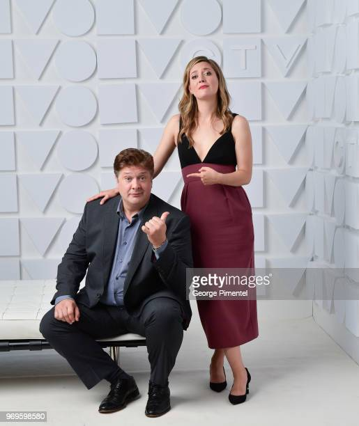 Lance Barber and Zoe Perry pose at the CTV Upfronts portrait studio held at the Sony Centre For Performing Arts on June 7 2018 in Toronto Canada