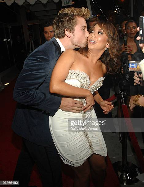 Lance Bass and Cheryl Burke attend E Oscar Viewing And After Party at Drai's Hollywood on March 7 2010 in Hollywood California