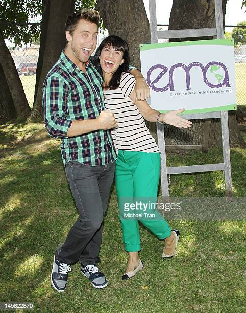 Lance Bass and Constance Zimmer attend The Environmental Media Association's 3rd Annual Garden Luncheon held at Carson Senior High School on June 6...
