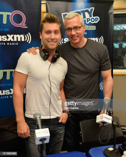Lance Bass and Dr Drew Pinsky attend SiriusXM's 'Dirty Pop With Lance Bass' Radio Talk Show Launch Event on September 13 2012 in New York City