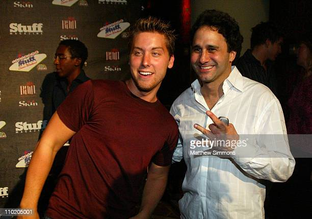 Lance Bass and George Maloof during Stuff Magazine Casino Weekend at the Palms Hotel at The Palms Hotel in Las Vegas Nevada United States