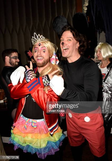 Lance Bass and JC Chasez attend Podwall Entertainment's 10th Annual Halloween Party presented by Maker's Mark on October 31 2019 in West Hollywood...