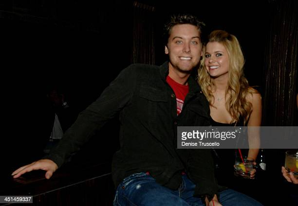 Lance Bass and Joanna Garcia during Jet Nightclub at The Mirage Grand Opening Celebration Day at Jet Nightclub at The Mirage in Las Vegas Nevada