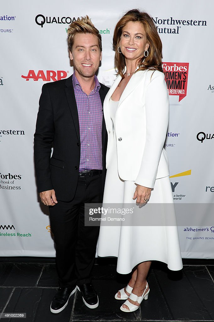 Lance Bass and Kathy Ireland attend Forbes Women's Summit:The Entrepreneurship of Everything at 583 Park Avenue on May 15, 2014 in New York City.