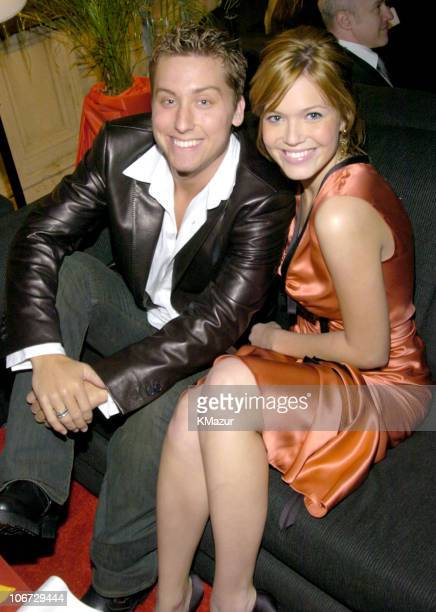 Lance Bass and Mandy Moore during The 30th Annual People's Choice Awards Backstage and Audience at Pasadena Civic Auditorium in Pasadena California...