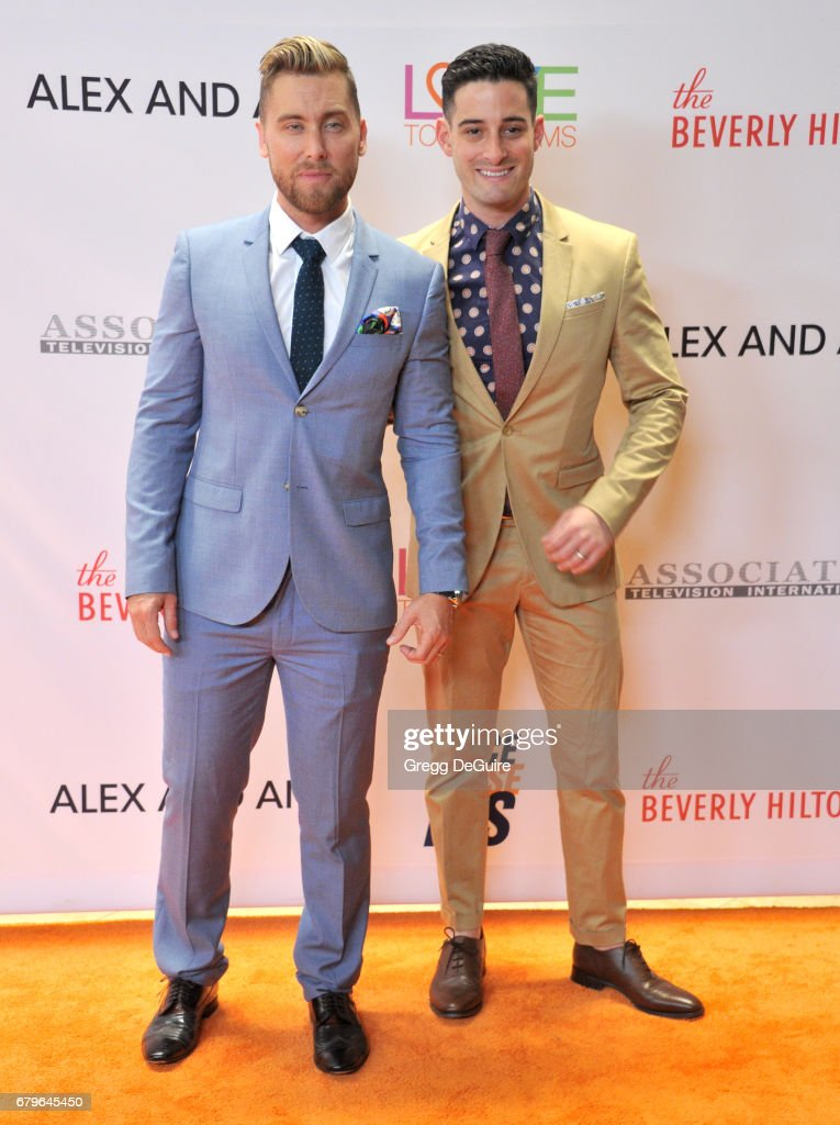 Lance Bass and Michael Turchin arrive at the 24th Annual Race To Erase MS Gala at The Beverly Hilton Hotel on May 5, 2017 in Beverly Hills, California.
