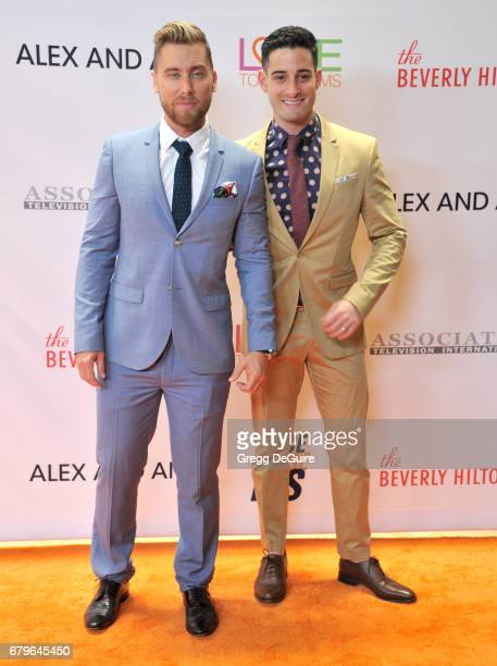 Lance Bass and Michael Turchin arrive at the 24th Annual Race To Erase MS Gala at The Beverly Hilton Hotel on May 5 2017 in Beverly Hills California
