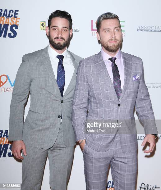 Lance Bass and Michael Turchin arrive to the 25th Annual Race To Erase MS Gala held at The Beverly Hilton Hotel on April 20 2018 in Beverly Hills...