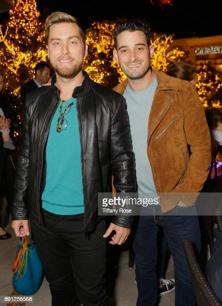 Lance Bass and Michael Turchin at the Village Synagogue and Emmanuelle Chriqui Host Menorah Lighting Ceremony at The Grove on December 12 2017 in Los...